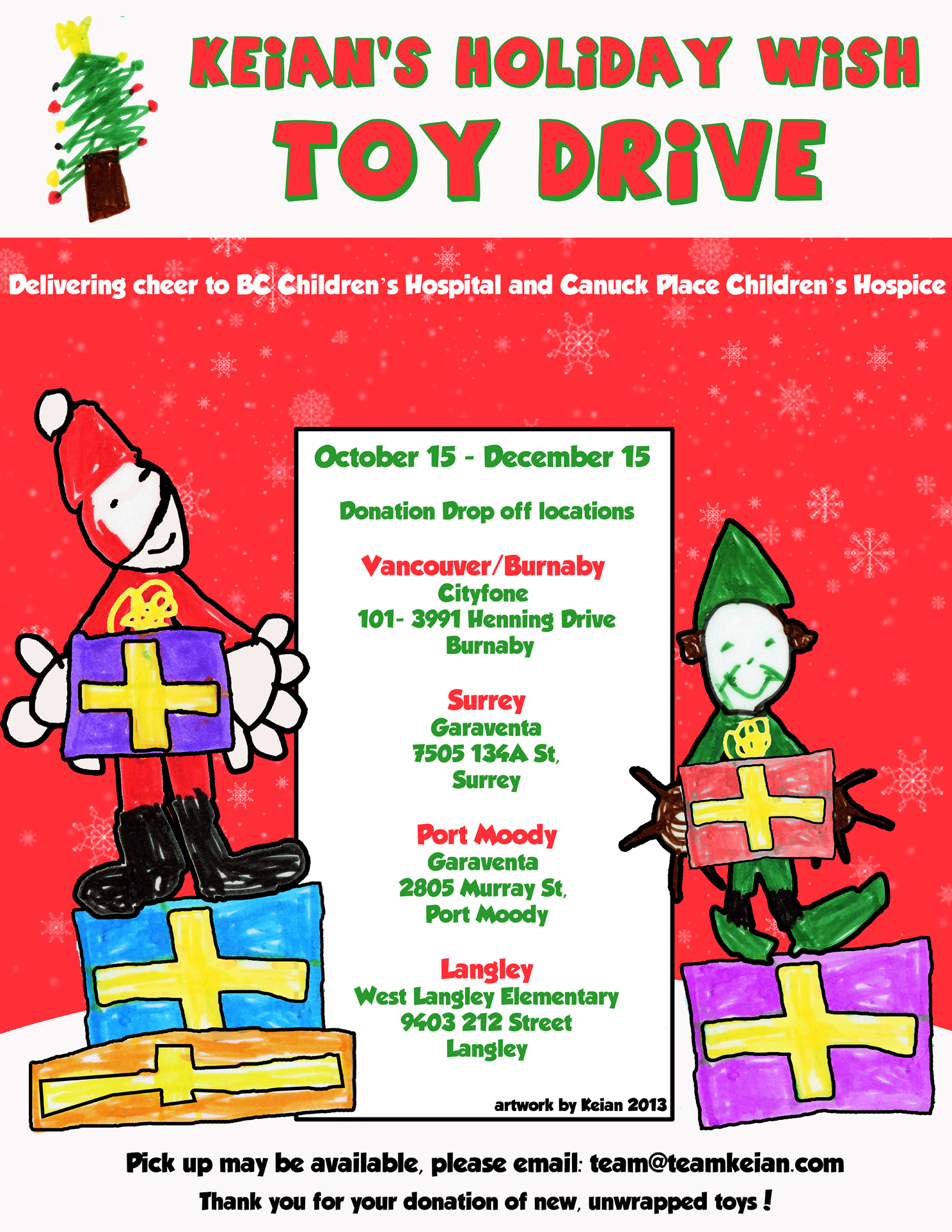 keians holiday wish toy drive