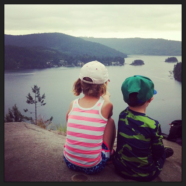 Quarry Rock with little kids