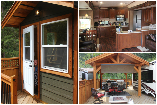 Our accomodations included a luxury RV, 'Shabin' and outdoor kitchen.