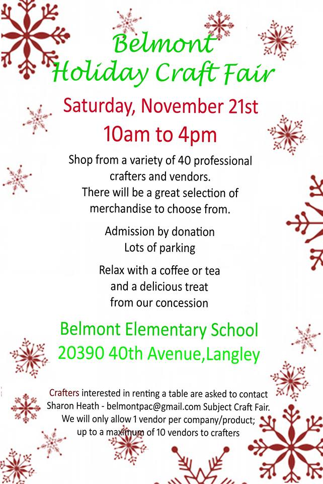 Holiday Craft Faire Belmont