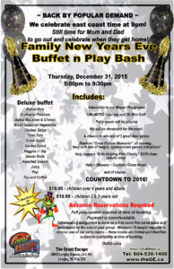 New Years 2015 Buffet Play Event